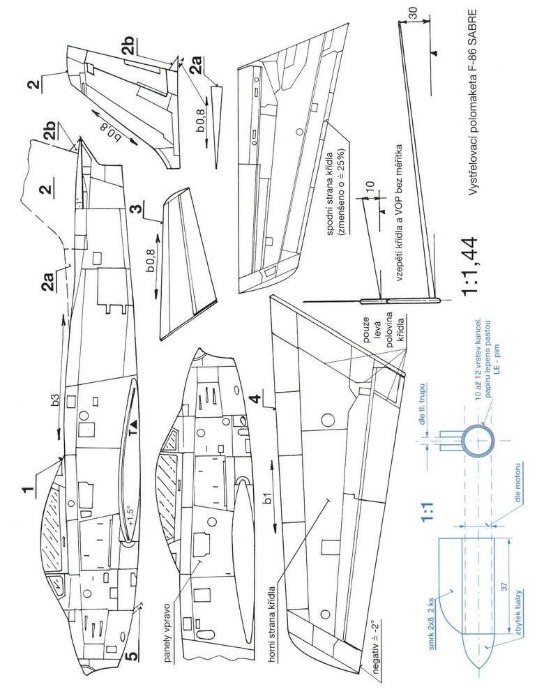 F86-Sabre reülőmodell gyerekeknek