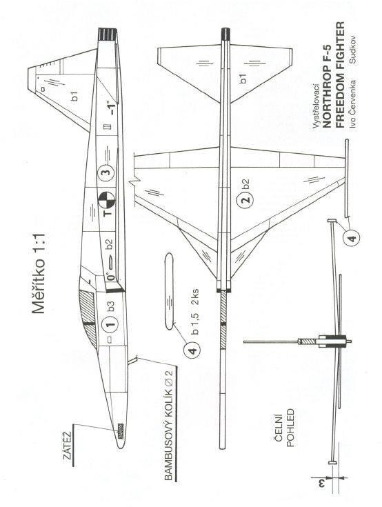 Northrop F5 - epülőmodell gyerekeknek
